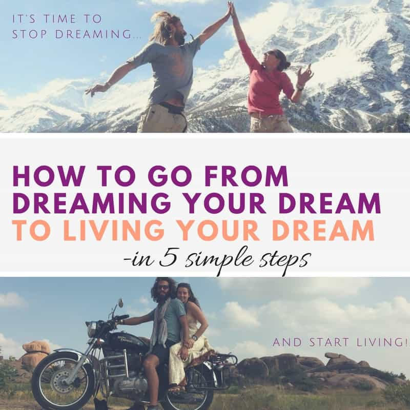 dreaming to living your dreams by amanda biccum