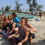 Acro workshop in Goa